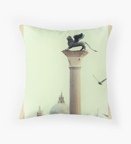 Winged Lion of Venice Throw Pillow