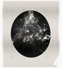God's Window - Space In Black And White Poster