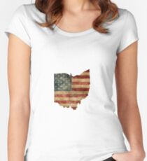 Vintage Ohio Women's Fitted Scoop T-Shirt