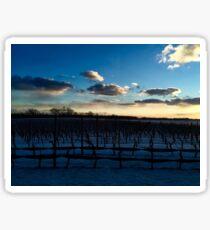 Snowy Vineyards Sticker