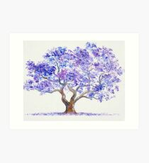 Jacaranda Tree painting Art Print
