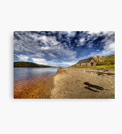 Boathouse by the Loch Canvas Print