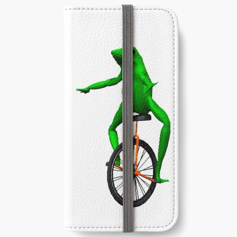dat boi meme / unicycle frog  iPhone Wallet