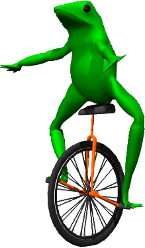 Quot Dat Boi Meme Unicycle Frog Quot Stickers By Joedaeskimo