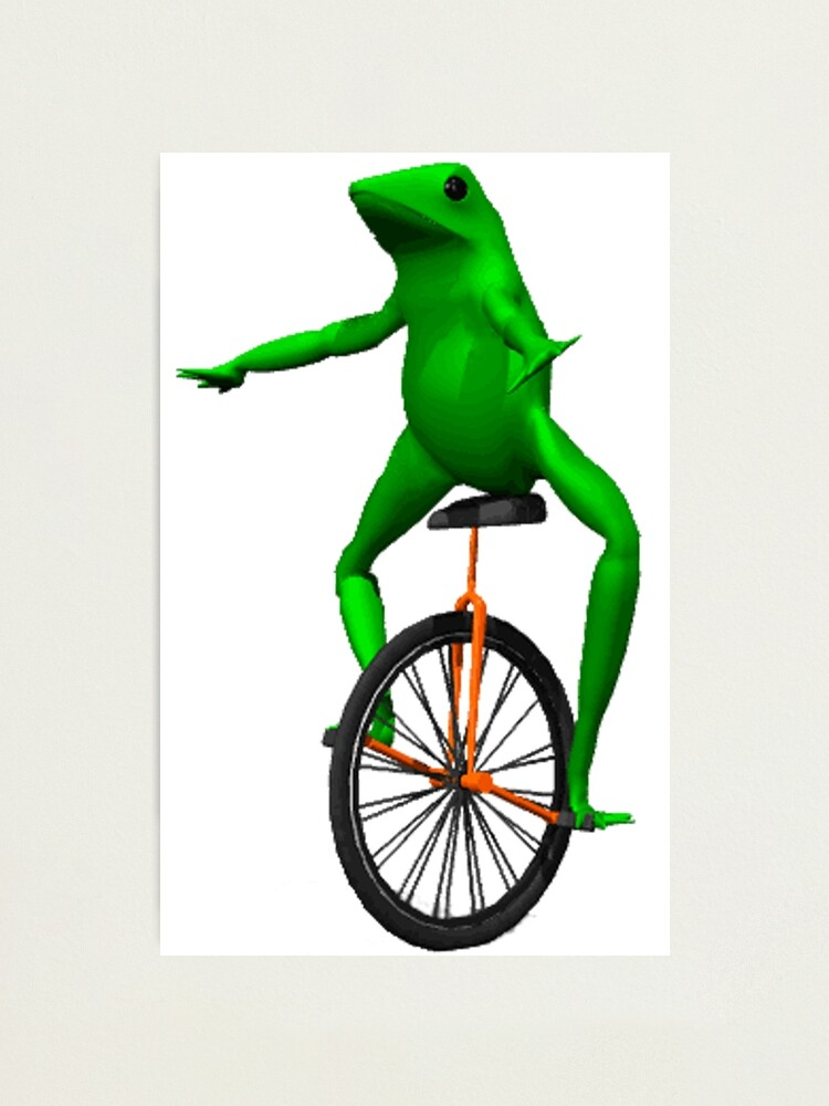 Alternate view of dat boi meme / unicycle frog  Photographic Print