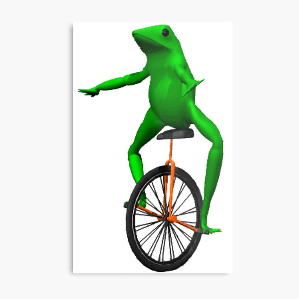 dat boi meme / unicycle frog  Metal Print