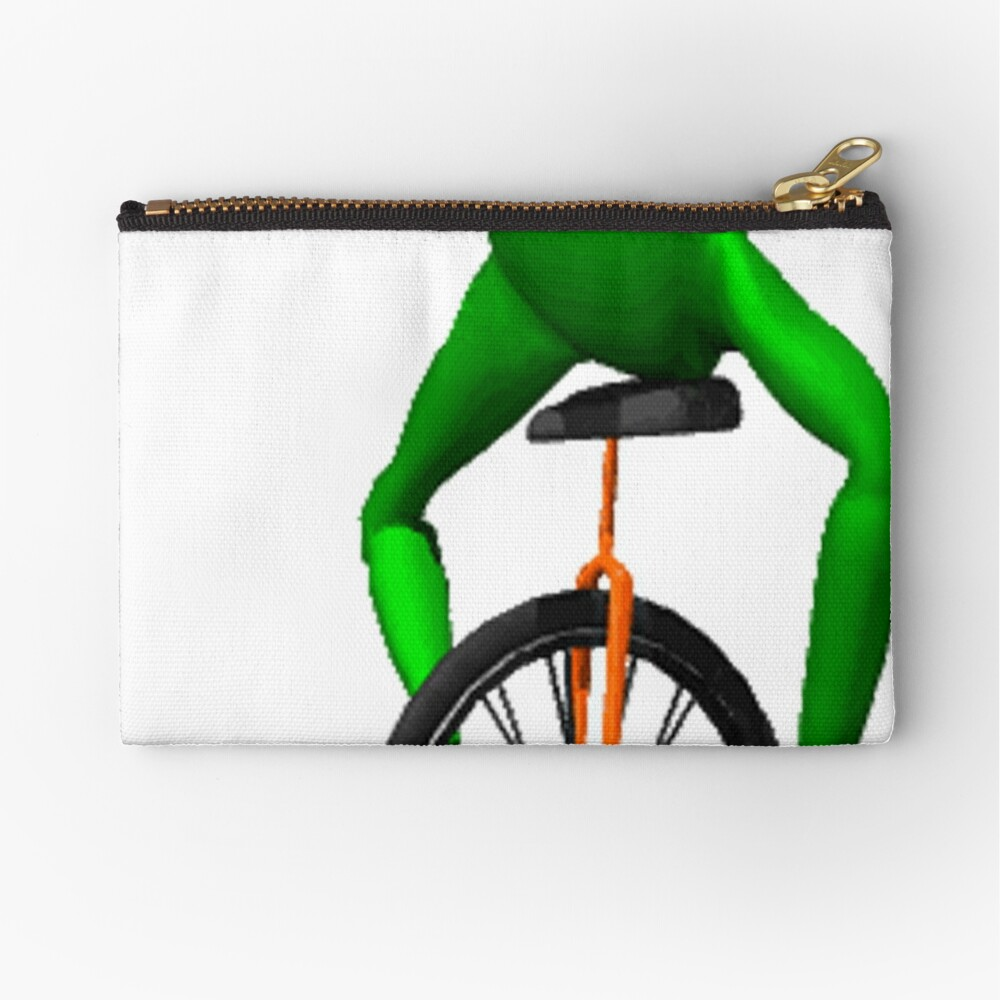 dat boi meme / unicycle frog  Zipper Pouch