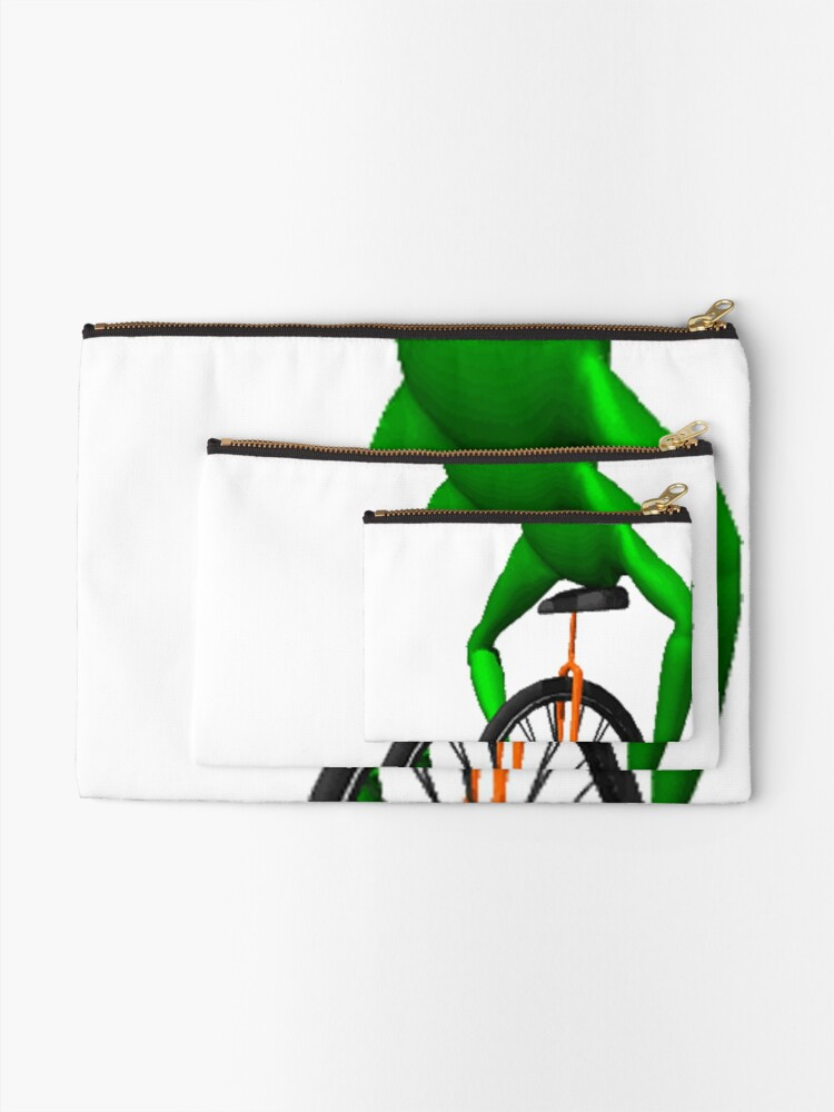 Alternate view of dat boi meme / unicycle frog  Zipper Pouch