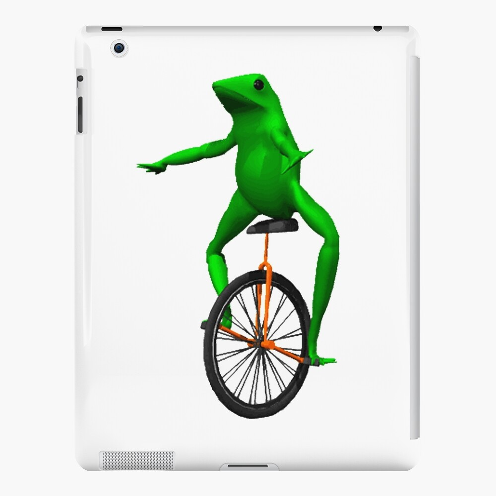 dat boi meme / unicycle frog  iPad Case & Skin