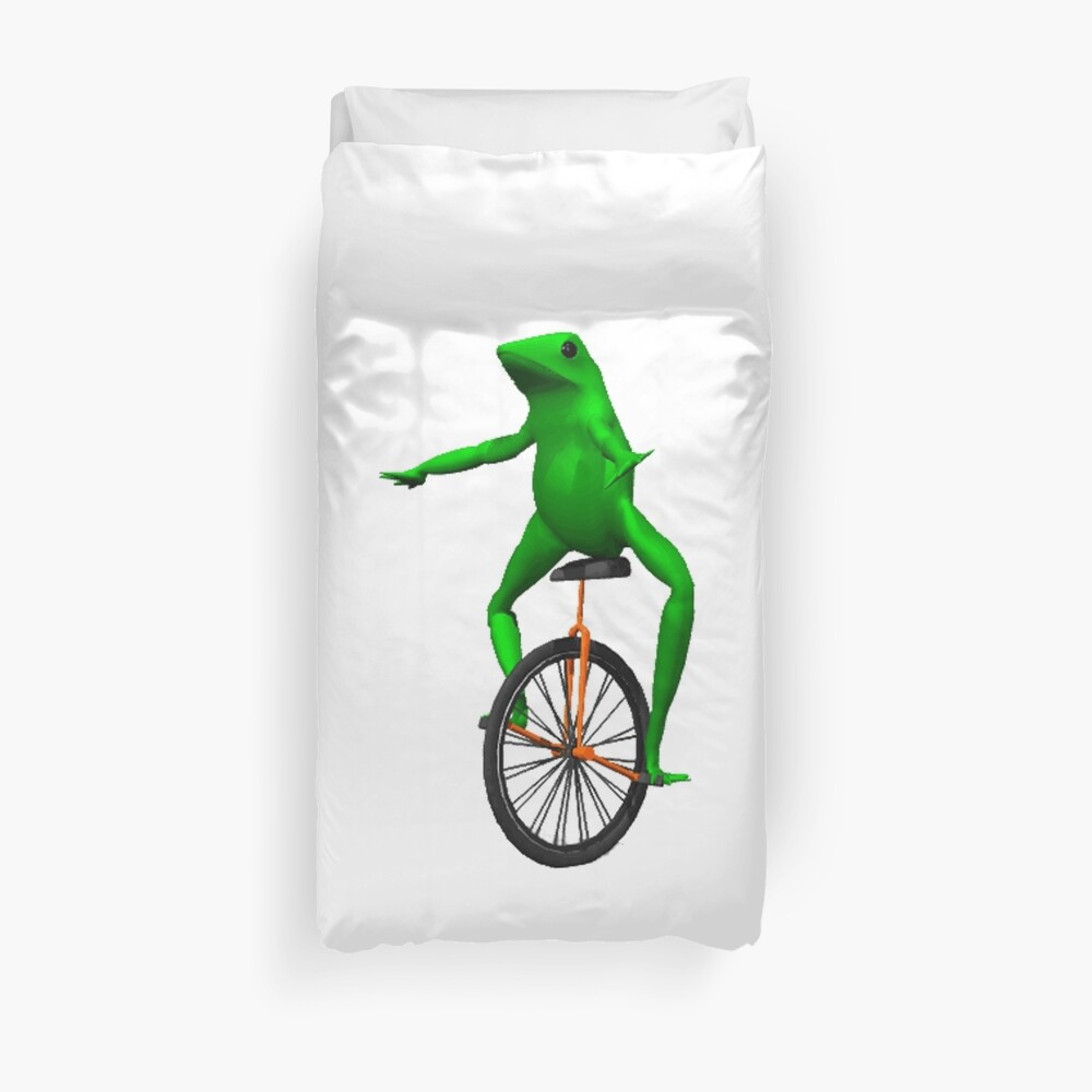 dat boi meme / unicycle frog  Duvet Cover