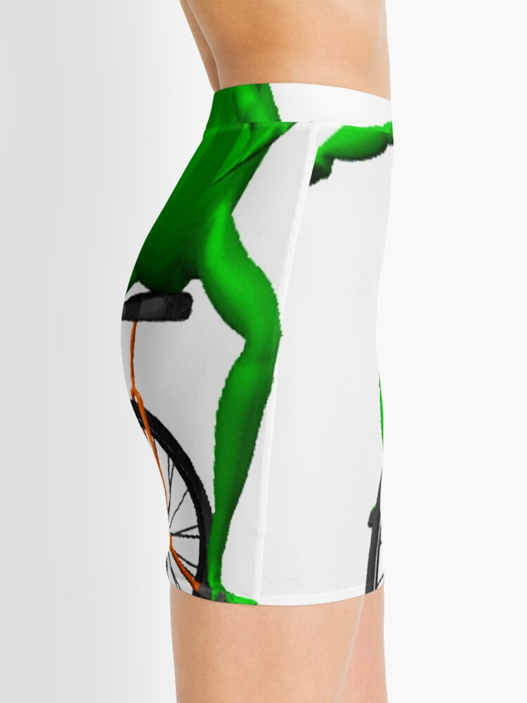 Alternate view of dat boi meme / unicycle frog  Mini Skirt