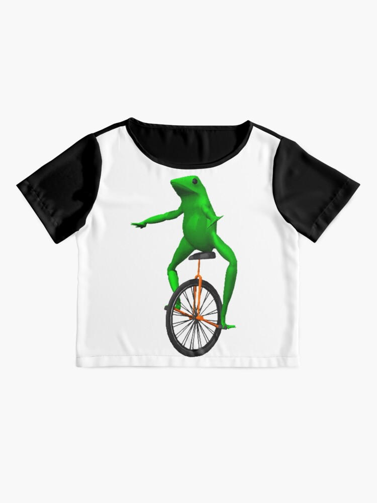 Alternate view of dat boi meme / unicycle frog  Chiffon Top
