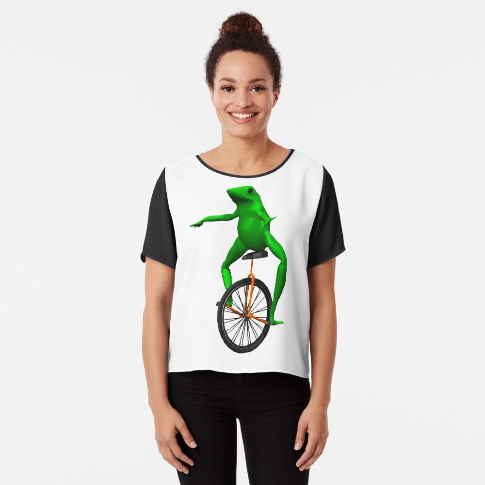 dat boi meme / unicycle frog  Chiffon Top