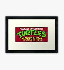 TMNT Turtles In Time logotype Framed Print