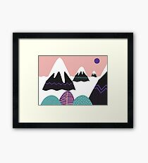 Abstract Mountains  Framed Print