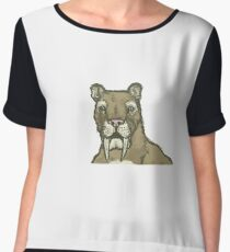 El Padre, the king of the Smilodon Chiffon Top