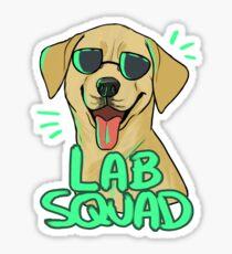 YELLOW LAB SQUAD Sticker