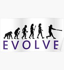 Women's Softball Evolution Poster
