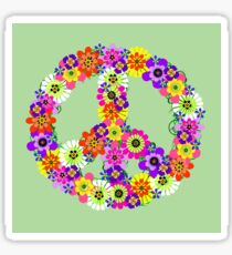 Peace Sign Floral Sticker