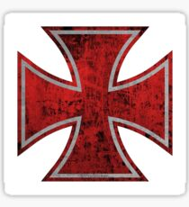 bloody iron cross Sticker