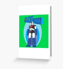 The Great Mazinger Greeting Card