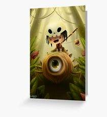 Cyclops Spider Greeting Card