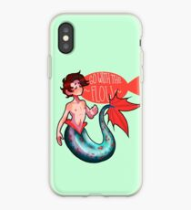 Go With The Flow Merman iPhone Case
