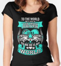She loves her tow truck driver Women's Fitted Scoop T-Shirt
