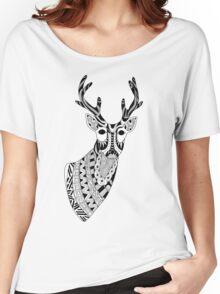 Reindeer Illustration Women's Relaxed Fit T-Shirt