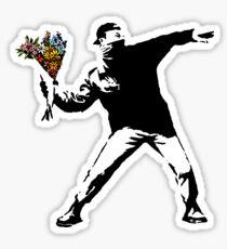 Pegatina Banksy - rabia, lanzador de flores