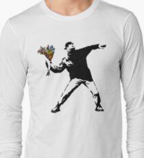 Banksy - Rage, Flower Thrower Long Sleeve T-Shirt