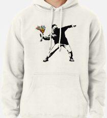 Banksy - Rage, Flower Thrower Pullover Hoodie