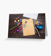 colored pencils paint brush  Greeting Card