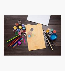 colored pencils paint brush  Photographic Print