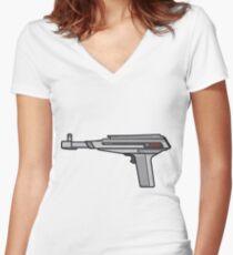 Atari XE Zapper Women's Fitted V-Neck T-Shirt