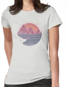 The Mountains Are Calling Womens Fitted T-Shirt