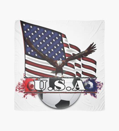Patriotic USA Soccer Ball Scarf