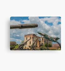 Military Jet & Anti Aircraft Canvas Print