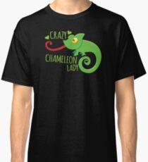 Crazy Chameleon lady Classic T-Shirt