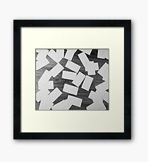 white sheets of paper scattered  Framed Print