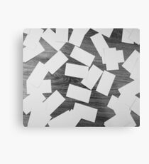 white sheets of paper scattered  Metal Print