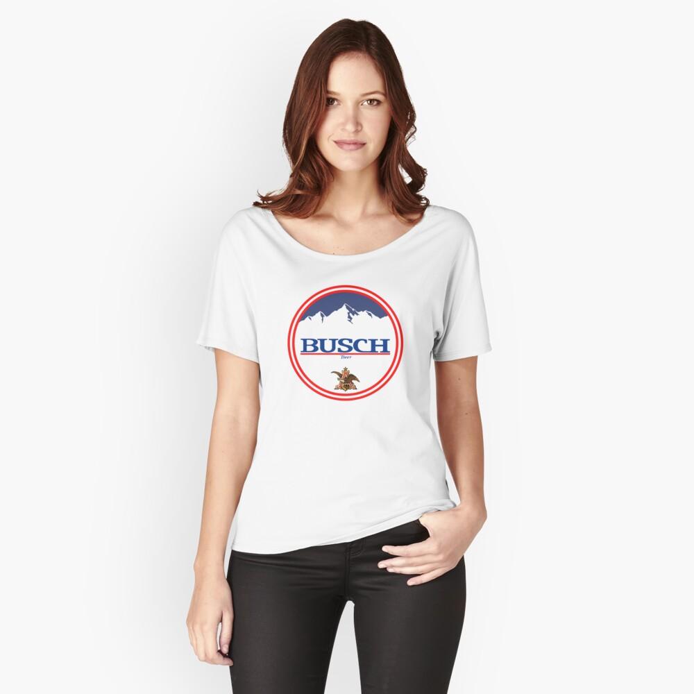 Buschlicht, Buschlicht, Busch, Bier, Getränk, Berg, Kneipe, Logo, Symbol. Loose Fit T-Shirt