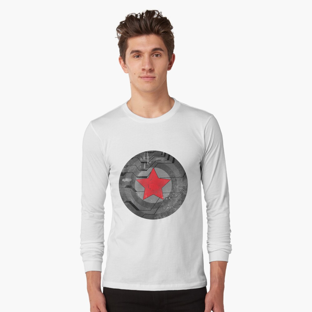 Winter Solider Shield Long Sleeve T-Shirt Front