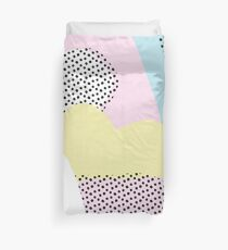 Candy Pink Blue Blobs & Dots Pattern Duvet Cover