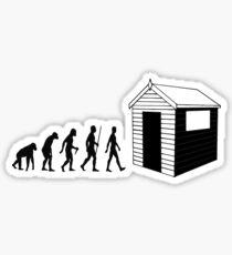 The Evolution Of Dad Sticker