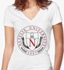 Netflix University Women's Fitted V-Neck T-Shirt