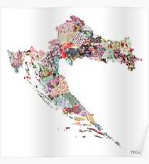 Croatia map Poster