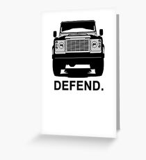 Land Rover Defender  T-Shirt Greeting Card