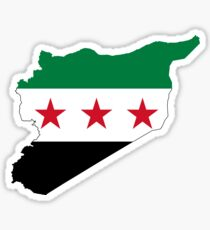 Flag Map of Syria Sticker