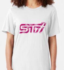 Camiseta ajustada 'Subaru STI Logo' para Subaru Fans